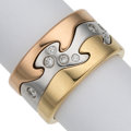 Estate Jewelry:Rings, Diamond, Gold Puzzle Ring, Georg Jensen. ... (Total: 3 Items)
