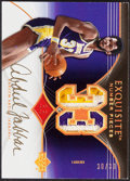 "Basketball Cards:Singles (1980-Now), 2006-07 Exquisite Collection Kareem Abdul-Jabbar ""Exquisite Number Pieces"" Jersey Patch Autograph Card #EN-KA...."