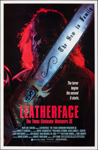 Leatherface: Texas Chainsaw Massacre III & Other Lot (New Line, 1990). Rolled, Very Fine. One Sheets (2) (27&quo...