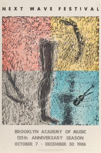 Susan Rothenberg (b. 1945) Next Wave Festival, 1986 Screenprint in colors on paper 38 x 25 inches