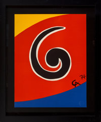 Alexander Calder (1898-1976) Untitled, from Flying Colors, 1975 Lithograph in colors on A