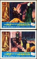 """Movie Posters:Horror, The Pit and the Pendulum (American International, 1961). Overall: Fine/Very Fine. Lobby Cards (2) (11"""" X 14""""). Horror..."""
