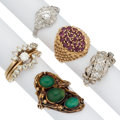 Estate Jewelry:Rings, Diamond, Multi-Stone, Platinum, Gold Rings. ... (Total: 6 Items)