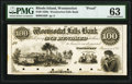 Obsoletes By State:Rhode Island, Woonsocket, RI- Woonsocket Falls Bank $100 Jan. 1, 18__ G62 Durand 2740 Proof PMG Choice Uncirculated 63.. ...