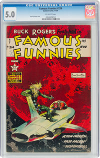 Famous Funnies #214 (Eastern Color, 1954) CGC VG/FN 5.0 Off-white pages