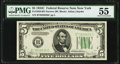 Small Size:Federal Reserve Notes, Fr. 1959-B $5 1934C Narrow Federal Reserve Note. PMG About Uncirculated 55.. ...