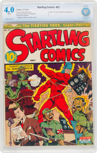 Startling Comics #23 (Better Publications, 1943) CBCS VG 4.0 White pages