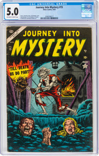 Journey Into Mystery #15 (Marvel, 1954) CGC VG/FN 5.0 Off-white to white pages
