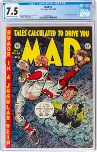 MAD #2 (EC, 1952) CGC VF- 7.5 Off-white to white pages