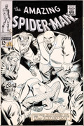 Original Comic Art:Covers, John Romita Sr. Amazing Spider-Man #51 Cover Kingpin Original Art (Marvel, 1967)....