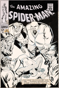 John Romita Sr. Amazing Spider-Man #51 Cover Kingpin Original Art (Marvel, 1967)