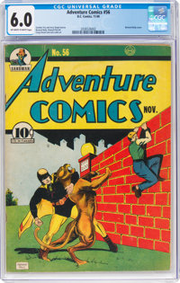Adventure Comics #56 (DC, 1940) CGC FN 6.0 Off-white to white pages