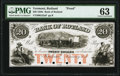Obsoletes By State:Vermont, Rutland, VT- Bank of Rutland $20 Jan. 1, 18__ G52a as Coulter 29 Proof PMG Choice Uncirculated 63.. ...