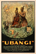 "Movie Posters:Documentary, Ubangi (William M. Pizor, 1931). Very Good/Fine on Linen. One Sheet (27.25"" X 41"").. ..."