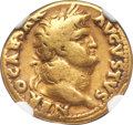 Ancients:Roman Imperial, Ancients: Nero (AD 54-68). AV aureus (18mm, 7.10 gm, 7h). NGC Fine 4/5 - 3/5....
