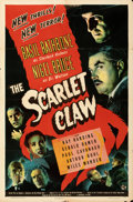Movie Posters:Mystery, The Scarlet Claw (Universal, 1944). Folded, Fine/Very Fine...