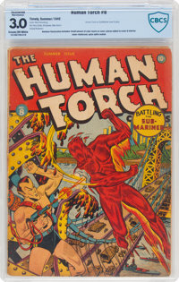 The Human Torch #8 (Timely, 1942) CBCS Restored GD/VG 3.0 (Moderate Amateur) Cream to off-white pages