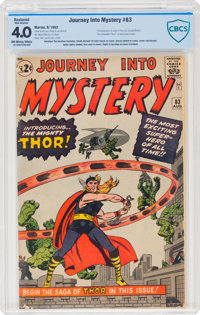 Journey Into Mystery #83 (Marvel, 1962) CBCS Restored VG 4.0 (Moderate Amateur) Off-white to white pages