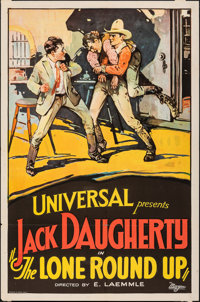 "The Lone Round-Up (Universal, 1924). Folded, Fine/Very Fine. One Sheet (27"" X 41""). Western"