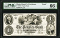 North Providence, RI- Peoples Bank $1 Jan. 1, 18__ G4 Durand 819 Proof PMG Gem Uncirculated 66 EPQ