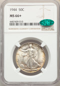 Walking Liberty Half Dollars, 1944 50C MS66+ NGC. CAC. NGC Census: (930/89). PCGS Population: (1432/132). MS66. Mintage 28,206,000....