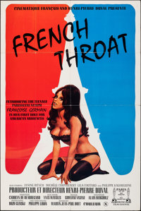 "French Throat (P.R. Film Service, 1975). Folded, Very Fine-. One Sheet (27"" X 41""). Adult"