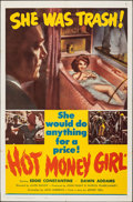"Movie Posters:Crime, Hot Money Girl (United Producers, 1961). Folded, Very Fine. One Sheet (27"" X 41""). Crime.. ..."