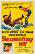 "Movie Posters:Comedy, She Couldn't Say No (RKO, 1954). Folded, Very Fine-. One Sheet (27"" X 41""). Comedy.. ..."