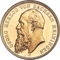 German States: Saxe-Meiningen. Georg I gold 20 Mark 1905-D MS65 Prooflike NGC