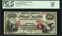 Whitehall, NY - $10 1875 Fr. 419 The Merchants National Bank Ch. # 2233 PCGS Apparent Very Fine 30