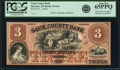 Obsoletes By State:Wisconsin, Baraboo, WI - Sauk County Bank $3 18__ G6a Proof PCGS Gem New 65PPQ.. ...