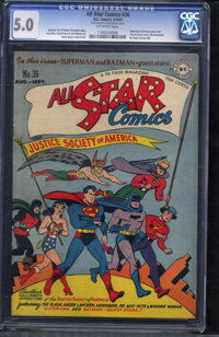 All Star Comics #36 (DC, 1947) CGC VG/FN 5.0 Off-white pages