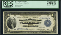 Fr. 742 $1 1918 Federal Reserve Bank Note PCGS Superb Gem New 67PPQ