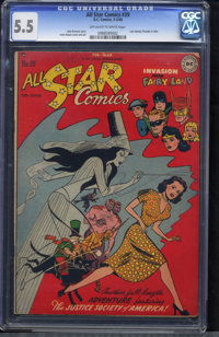 All Star Comics #39 (DC, 1948) CGC FN- 5.5 Off-white to white pages