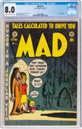 Golden Age (1938-1955):Humor, MAD #1 (EC, 1952) CGC VF 8.0 Cream to off-white pages....