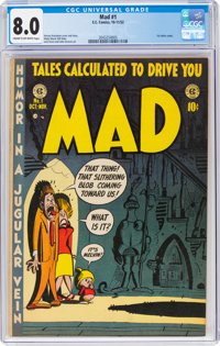MAD #1 (EC, 1952) CGC VF 8.0 Cream to off-white pages