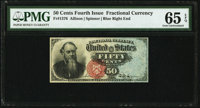 Fr. 1376 50¢ Fourth Issue Stanton PMG Gem Uncirculated 65 EPQ