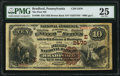 National Bank Notes:Pennsylvania, Bradford, PA - $10 1882 Brown Back Fr. 490 The First National Bank Ch. # (E)2470 PMG Very Fine 25.. ...