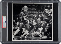 1984 Michael Jordan First Game at Chicago Stadium Original Photograph, PSA/DNA Type 1