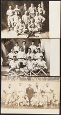 Baseball Collectibles:Photos, 19th Century & Turn-of-the-Century Baseball Cabinet Photographs & Photo Postcards Lot of 48....