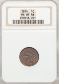 1874 1C MS64 Red and Brown NGC. NGC Census: (176/134). PCGS Population: (342/139). CDN: $450 Whsle. Bid for problem-free...