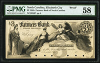 Elizabeth City, NC- Farmers Bank of North Carolina $3 18__ G2 Pennell 630 PMG Choice About Unc 58