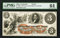Obsoletes By State:Ohio, Circleville, OH- Pickaway County Bank $3 18__ G8a Wolka 0678-07 Proof PMG Choice Uncirculated 64.. ...
