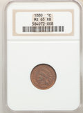 1880 1C MS65 Red and Brown NGC. NGC Census: (89/16). PCGS Population: (87/4). CDN: $425 Whsle. Bid for problem-free NGC/...