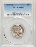 1916 5C MS64 PCGS. This lot will also include a: 1935-D 5C MS64 PCGS