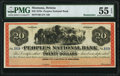 Helena, MT- Peoples National Bank $20 ND (ca. 1870s) Remainder PMG About Uncirculated 55 EPQ