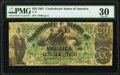 Confederate Notes:1861 Issues, T17 $20 1861 PF-2 Cr. UNL PMG Very Fine 30.. ...