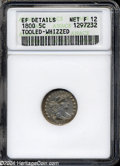 Early Half Dimes: , 1800 H10C--Tooled, Whizzed--ANACS. XF Details, Net Fine 12....