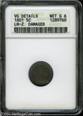 Early Half Dimes: , 1801 H10C--Damaged--ANACS. VG Details, Net Good 6....