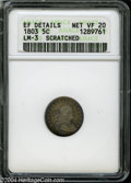 Early Half Dimes: , 1803 H10C Large 8--Scratched--ANACS. XF Details, Net VF20....